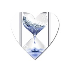 Time Water Movement Drop Of Water Heart Magnet by Celenk