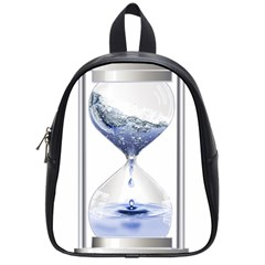 Time Water Movement Drop Of Water School Bag (small) by Celenk