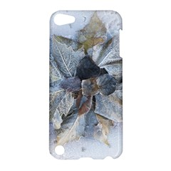 Winter Frost Ice Sheet Leaves Apple Ipod Touch 5 Hardshell Case by Celenk