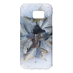 Winter Frost Ice Sheet Leaves Samsung Galaxy S7 Edge Hardshell Case by Celenk