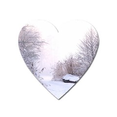 Winter Snow Ice Freezing Frozen Heart Magnet by Celenk