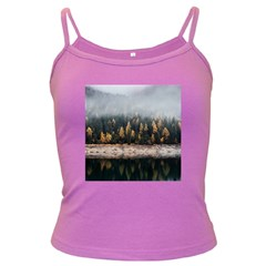 Trees Plants Nature Forests Lake Dark Spaghetti Tank by Celenk