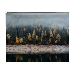 Trees Plants Nature Forests Lake Cosmetic Bag (xl) by Celenk