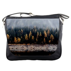Trees Plants Nature Forests Lake Messenger Bags by Celenk