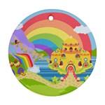 Rainbow Land Round Ornament