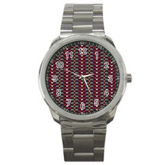 Native American Pattern 23 Sport Metal Watch by Cveti