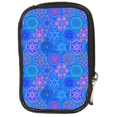 Geometric Hand Drawing Pattern Blue  Compact Camera Cases by Cveti