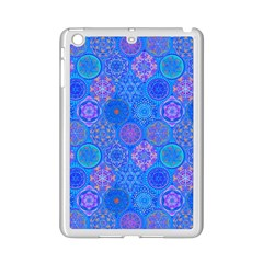 Geometric Hand Drawing Pattern Blue  Ipad Mini 2 Enamel Coated Cases by Cveti