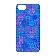 Geometric Hand Drawing Pattern Blue  Apple Iphone 7 Hardshell Case by Cveti