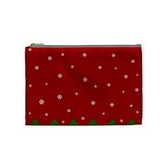 Christmas Pattern Cosmetic Bag (medium)  by Valentinaart
