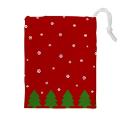 Christmas Pattern Drawstring Pouches (extra Large) by Valentinaart