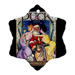 Vintage Santa Claus  Snowflake Ornament (two Sides) by Valentinaart