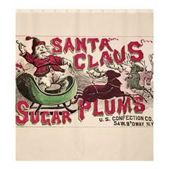 Vintage Santa Claus  Shower Curtain 66  X 72  (large)  by Valentinaart