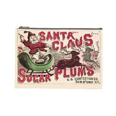 Vintage Santa Claus  Cosmetic Bag (large)  by Valentinaart