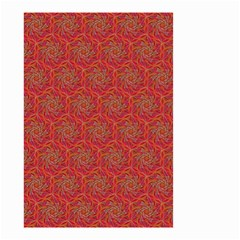 Whirligig Pattern Hand Drawing Orange 01 Small Garden Flag (two Sides) by Cveti