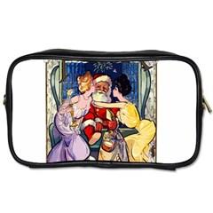 Vintage Santa Claus  Toiletries Bags 2 Side by Valentinaart
