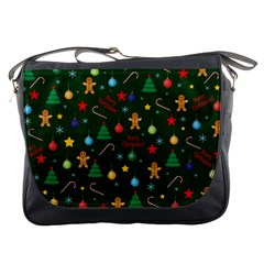 Christmas Pattern Messenger Bags by Valentinaart