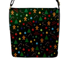 Christmas Pattern Flap Messenger Bag (l)  by Valentinaart