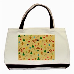 Christmas Pattern Basic Tote Bag (two Sides) by Valentinaart