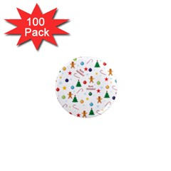 Christmas Pattern 1  Mini Magnets (100 Pack)  by Valentinaart