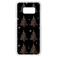 Christmas Tree   Pattern Samsung Galaxy S8 White Seamless Case by Valentinaart