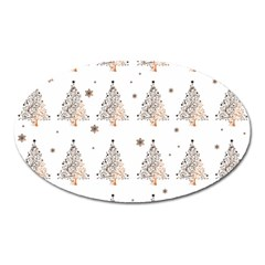 Christmas Tree   Pattern Oval Magnet by Valentinaart