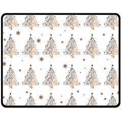 Christmas Tree   Pattern Fleece Blanket (medium)  by Valentinaart