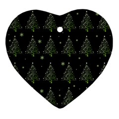 Christmas Tree   Pattern Ornament (heart) by Valentinaart