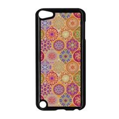 Bohemian Pattern Eye Orange Apple Ipod Touch 5 Case (black) by Cveti