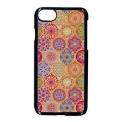 Bohemian Pattern Eye Orange Apple Iphone 8 Seamless Case (black) by Cveti