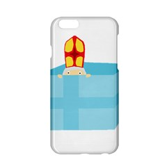 Funny Cute Kids Art St Nicholas St  Nick Sinterklaas Hiding In A Gift Box Apple Iphone 6/6s Hardshell Case by yoursparklingshop