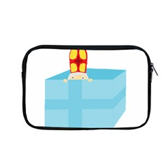 Funny Cute Kids Art St Nicholas St  Nick Sinterklaas Hiding In A Gift Box Apple Macbook Pro 13  Zipper Case by yoursparklingshop