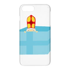 Funny Cute Kids Art St Nicholas St  Nick Sinterklaas Hiding In A Gift Box Apple Iphone 8 Plus Hardshell Case by yoursparklingshop