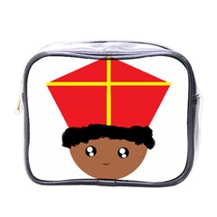 Cutieful Kids Art Funny Zwarte Piet Friend Of St  Nicholas Wearing His Miter Mini Toiletries Bags by yoursparklingshop