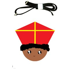 Cutieful Kids Art Funny Zwarte Piet Friend Of St  Nicholas Wearing His Miter Shoulder Sling Bags by yoursparklingshop