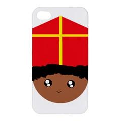 Cutieful Kids Art Funny Zwarte Piet Friend Of St  Nicholas Wearing His Miter Apple Iphone 4/4s Premium Hardshell Case by yoursparklingshop