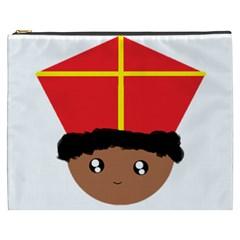 Cutieful Kids Art Funny Zwarte Piet Friend Of St  Nicholas Wearing His Miter Cosmetic Bag (xxxl)  by yoursparklingshop