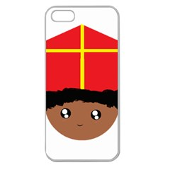 Cutieful Kids Art Funny Zwarte Piet Friend Of St  Nicholas Wearing His Miter Apple Seamless Iphone 5 Case (clear) by yoursparklingshop