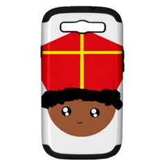 Cutieful Kids Art Funny Zwarte Piet Friend Of St  Nicholas Wearing His Miter Samsung Galaxy S Iii Hardshell Case (pc+silicone) by yoursparklingshop