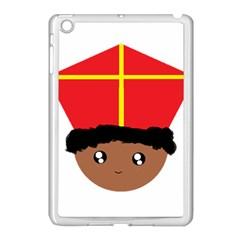 Cutieful Kids Art Funny Zwarte Piet Friend Of St  Nicholas Wearing His Miter Apple Ipad Mini Case (white) by yoursparklingshop