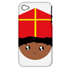 Cutieful Kids Art Funny Zwarte Piet Friend Of St  Nicholas Wearing His Miter Apple Iphone 4/4s Hardshell Case (pc+silicone) by yoursparklingshop