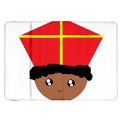 Cutieful Kids Art Funny Zwarte Piet Friend Of St  Nicholas Wearing His Miter Samsung Galaxy Tab 8 9  P7300 Flip Case by yoursparklingshop