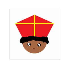 Cutieful Kids Art Funny Zwarte Piet Friend Of St  Nicholas Wearing His Miter Small Satin Scarf (square) by yoursparklingshop