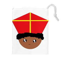 Cutieful Kids Art Funny Zwarte Piet Friend Of St  Nicholas Wearing His Miter Drawstring Pouches (extra Large) by yoursparklingshop