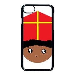 Cutieful Kids Art Funny Zwarte Piet Friend Of St  Nicholas Wearing His Miter Apple Iphone 7 Seamless Case (black) by yoursparklingshop