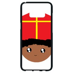 Cutieful Kids Art Funny Zwarte Piet Friend Of St  Nicholas Wearing His Miter Samsung Galaxy S8 Black Seamless Case by yoursparklingshop