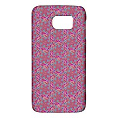 Whirligig Pattern Hand Drawing Pink 01 Galaxy S6 by Cveti