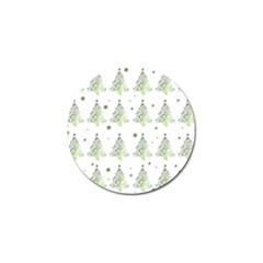 Christmas Tree   Pattern Golf Ball Marker by Valentinaart