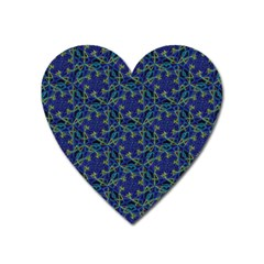 Whirligig Hand Drawing Geometric Pattern Blue Heart Magnet by Cveti