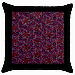 Whirligig Pattern Hand Drawing Red Throw Pillow Case (black)